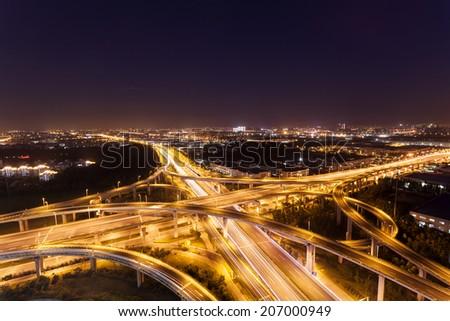 China Jiangsu night overpass #207000949