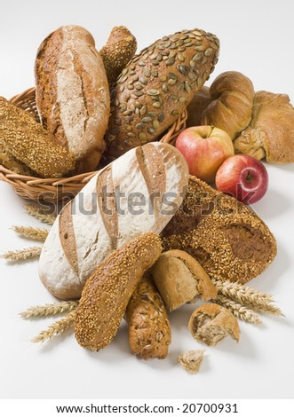 Variety of whole wheat bread #20700931