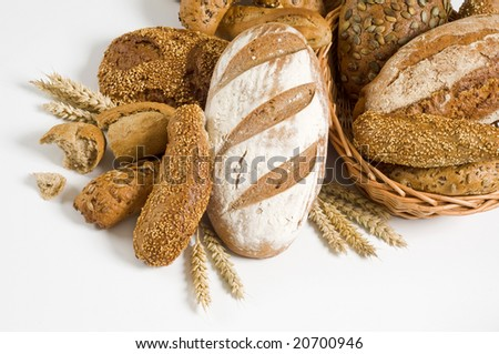 Variety of whole wheat bread #20700946