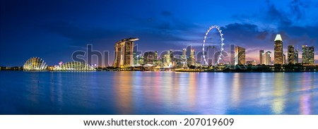 Singapore  in twilight a view into Marina Bay #207019609