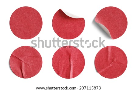 Blank Circle Retail Tags Isolated on a White Background. #207115873