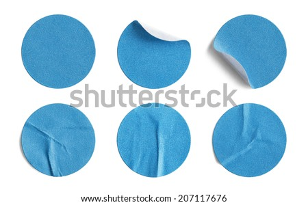 Blank Circle Retail Tags Isolated on a White Background. #207117676