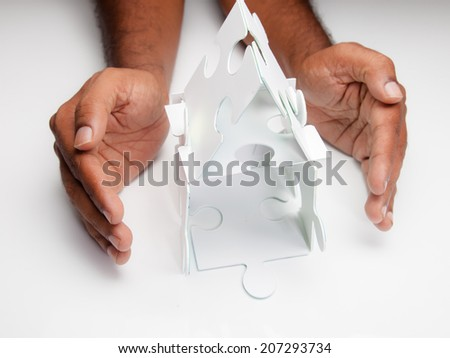 Hand protecting house #207293734
