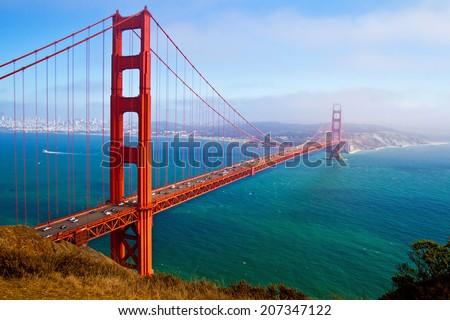 Golden Gate Bridge, San Francisco, California, USA. Royalty-Free Stock Photo #207347122