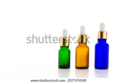 Cosmetics bottles isolated on white #207595048
