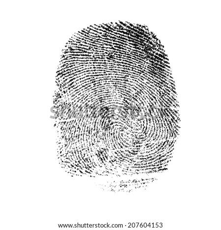 thumb print  #207604153