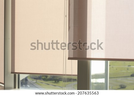 An Image of Roll Curtain Royalty-Free Stock Photo #207635563
