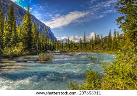 Scenic mountain hiking views, Berg Lake Trail, Mount Robson Provincial Park British Columbia Canada #207656911