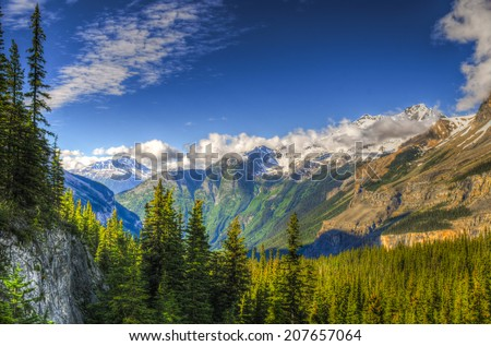 Scenic mountain hiking views, Berg Lake Trail, Mount Robson Provincial Park British Columbia Canada #207657064
