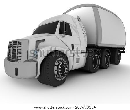 3D Render of an Oversized Cartoon Truck #207693154