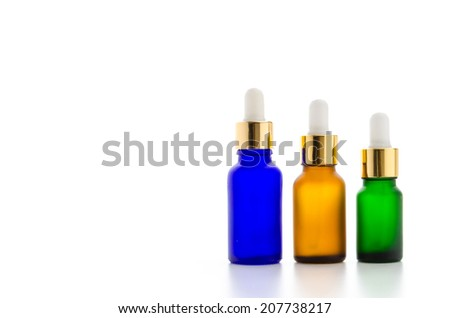 Cosmetics bottles isolated on white #207738217