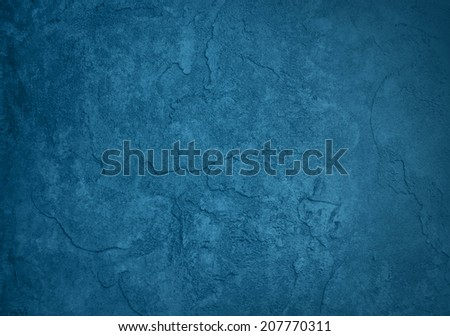 solid blue background, classy elegant rich blue color and vintage texture background design, blank blue painted plaster or cement wall #207770311