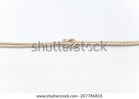 rope knot golden  #207786826
