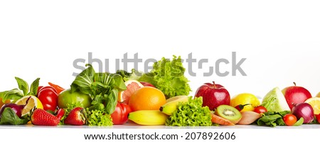 Fruit and vegetable borders  #207892606