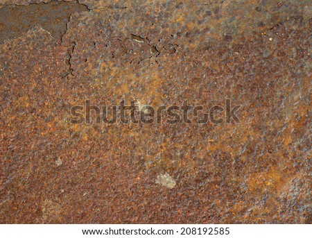 Rusty old brown oxidized metal grunge background #208192585