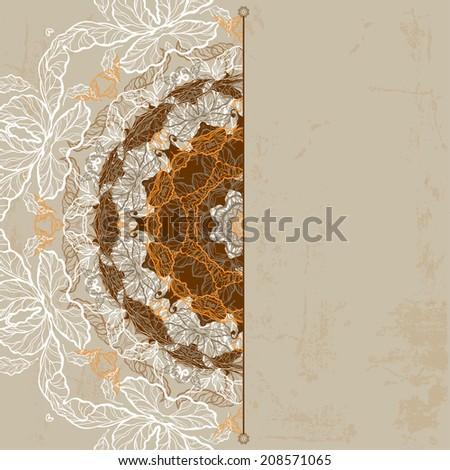 Ornamental vintage background. Raster version #208571065