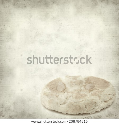 textured old paper background with traditional canarian almond bisquits #208784815