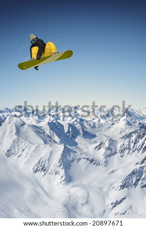 Jumping Snowboarder #20897671
