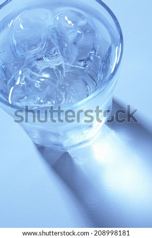 Water Poured Into A Glass #208998181