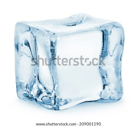 Ice cube isolated on a white background. Clipping Path #209001190