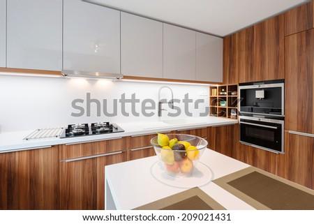 Contemporary kitchen interior  #209021431