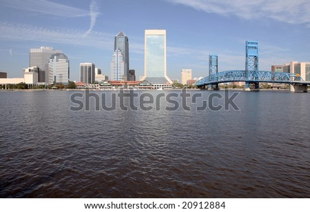 A view of the skyline of Jacksonville Florida