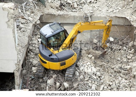 The Building Demolition Site Royalty-Free Stock Photo #209212102