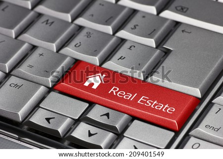 Computer key - Real Estate with house icon #209401549