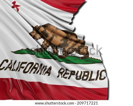 California Republic Flag with white #209717221