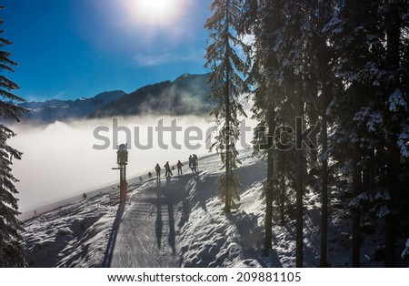 Mountains ski resort Austria - nature and sport picture