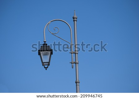 Street lamp iron classic ornamental #209946745