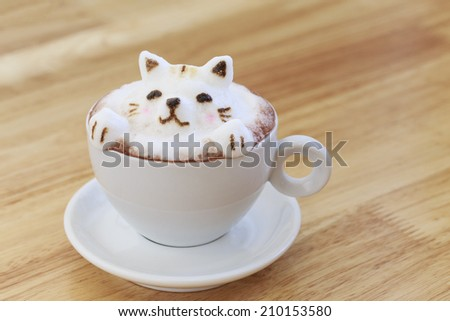 Kitty latte Art