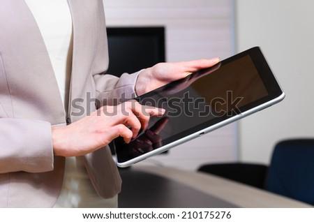 business woman in modern office #210175276