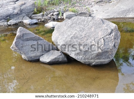 Rocks in water #210248971