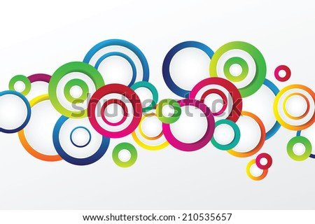 Bright background with circles - vector