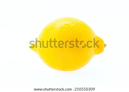 Lemon isolated on white background #210550309