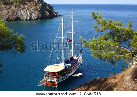 Scenic bay near to Kemer, Turkey #210686518