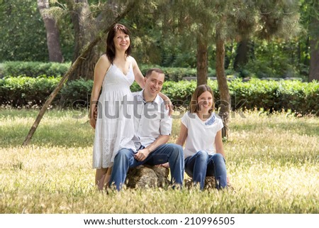 Portrait of a young family  #210996505