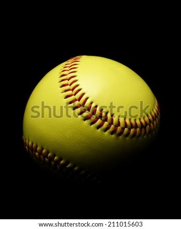 Softball on Black