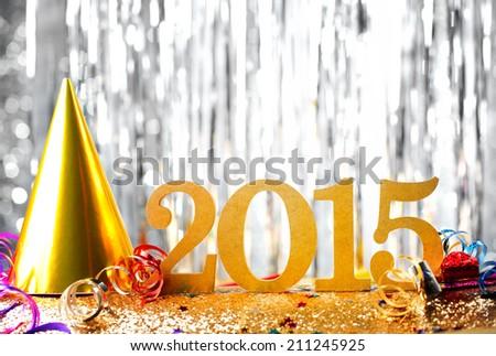 New year decoration,2015. Royalty-Free Stock Photo #211245925