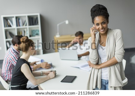 Young people in the office #211286839