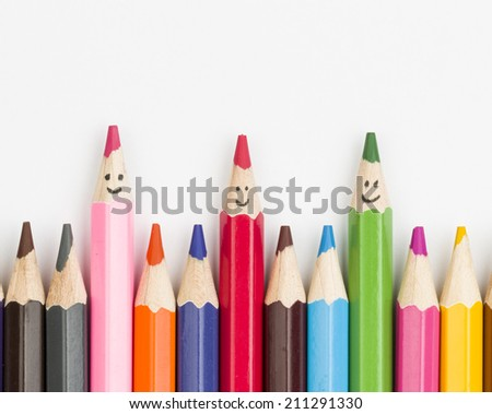 Colored Pencils - Stock Image macro.