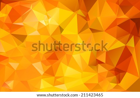 Abstract geometric background in vibrant fall colors.