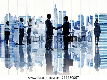 Silhouettes of Diverse Corporate Business People #211480057