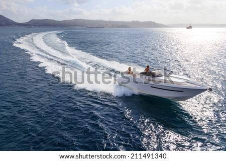 motor boat, rio yachts, best italian yacht Royalty-Free Stock Photo #211491340