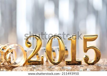 New year decoration,2015. Royalty-Free Stock Photo #211493950