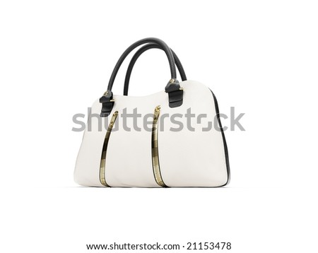 isolated white satchel on a white background #21153478