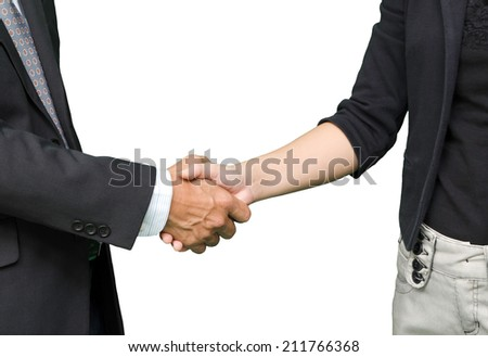 business people shaking hands, isolated on white background #211766368