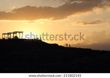 romantic sunset on hill Turkey #211802143