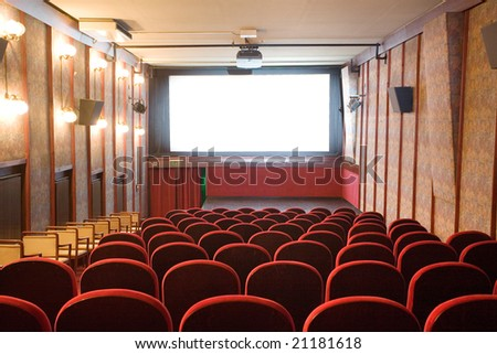 empty small cinema auditorium #21181618